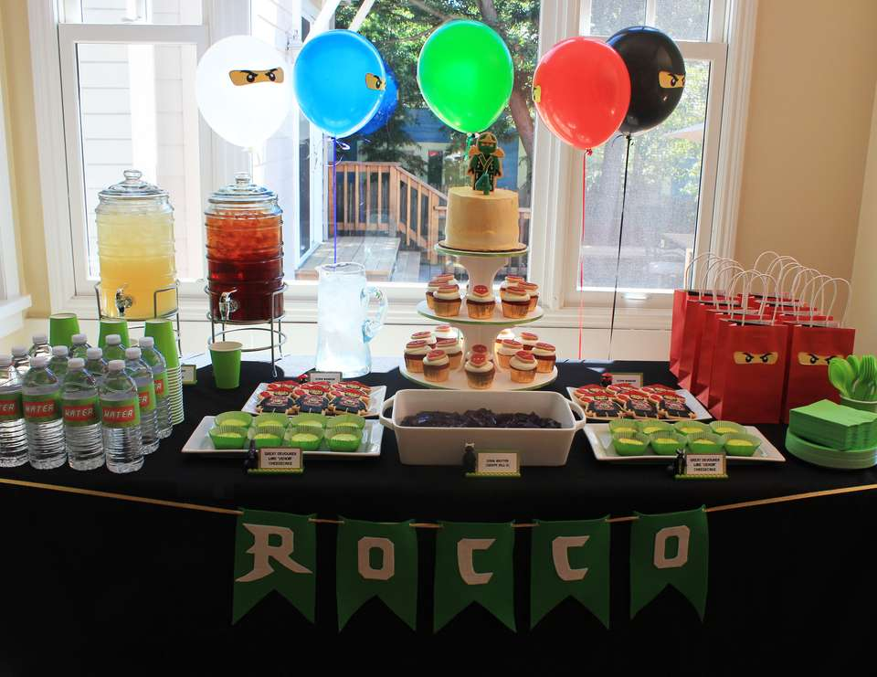 Rocco's Ninjago Birthday Party - Lego Ninjago, Ninja