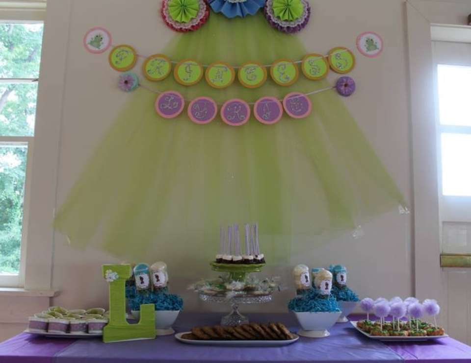 prodigious Princess And The Frog Birthday Party Decorations Part - 11: 5th Birthday Party for Princess Lyric - PRINCESS AND THE FROG