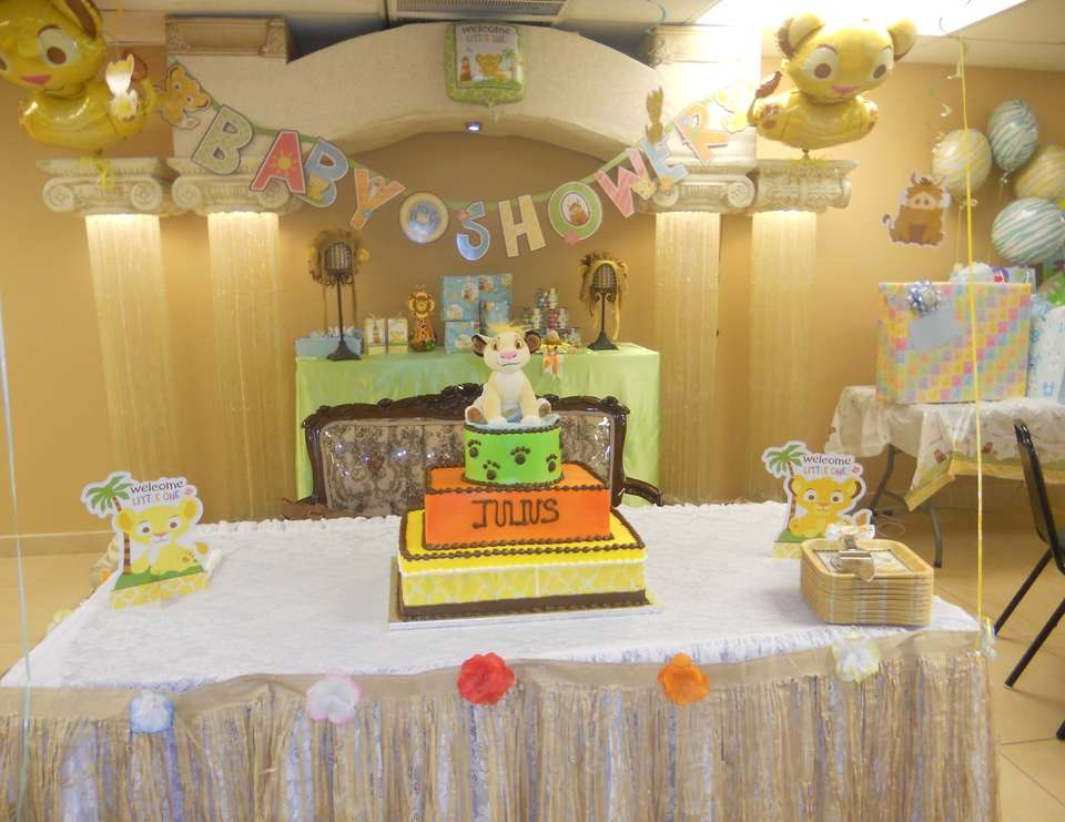 Berenice & Pedro's baby shower - Lion/Lion king baby shower