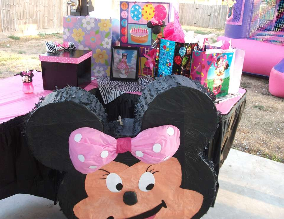 Julissa's Birthday - Minnie Mouse and Zebra Print