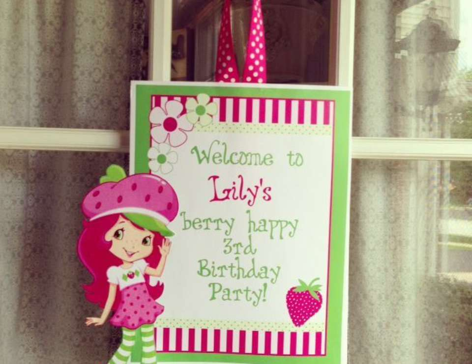 Lily's 3rd Birthday Party - Strawberry Shortcake