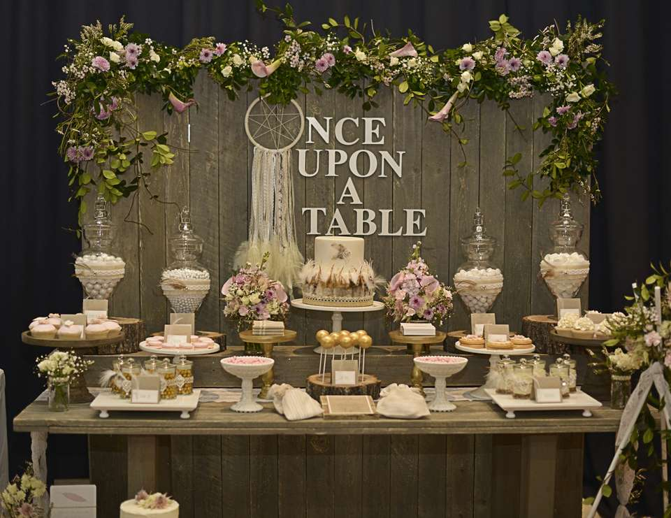 "Rustic, Bohemian Chic Dessert Table / Wedding ""Confetti"