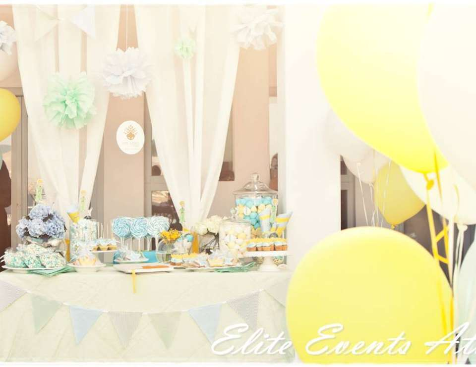 The Little Prince Baptism - The Little Prince , fairytale, blue, yellow, baptism, party