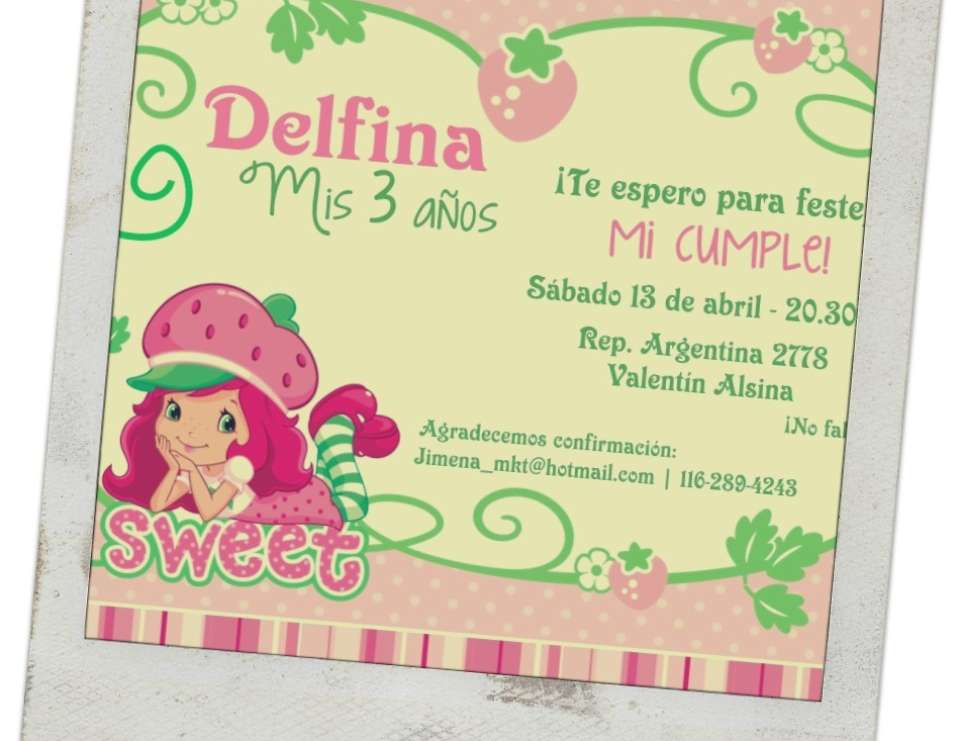 Cumple Delfi 3 - Strawberry Shortcake