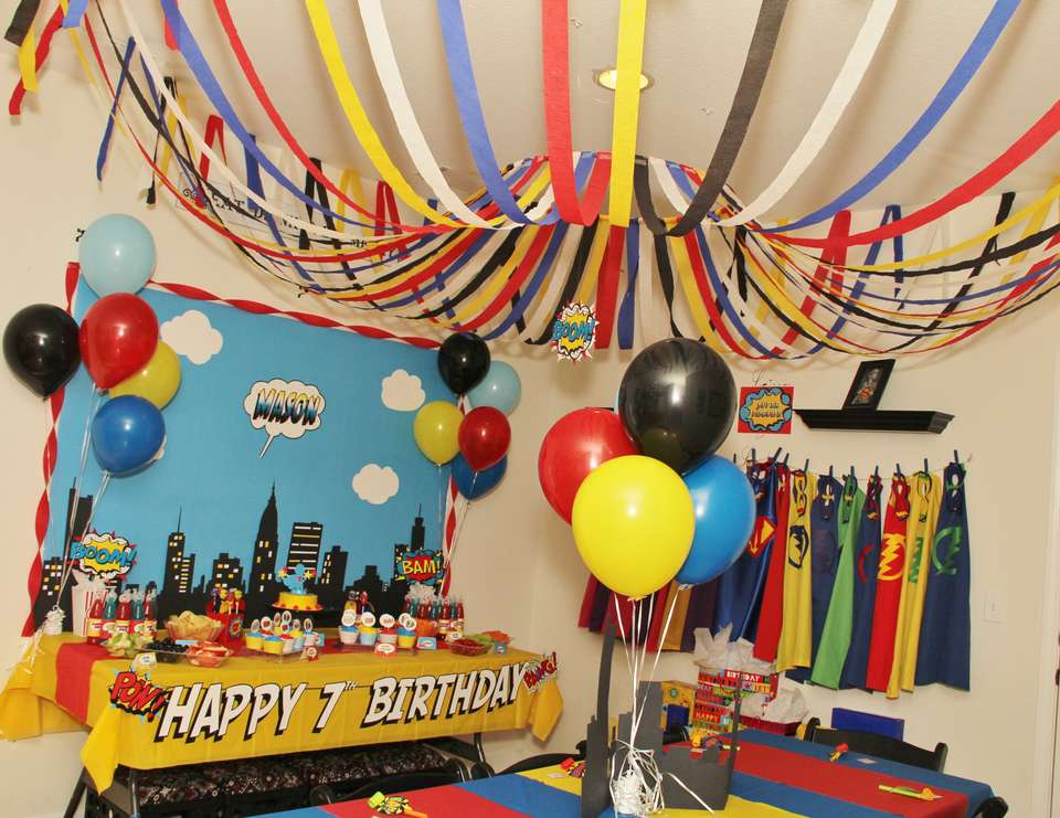 SUPER HERO 7th Birthday! - Super Heros
