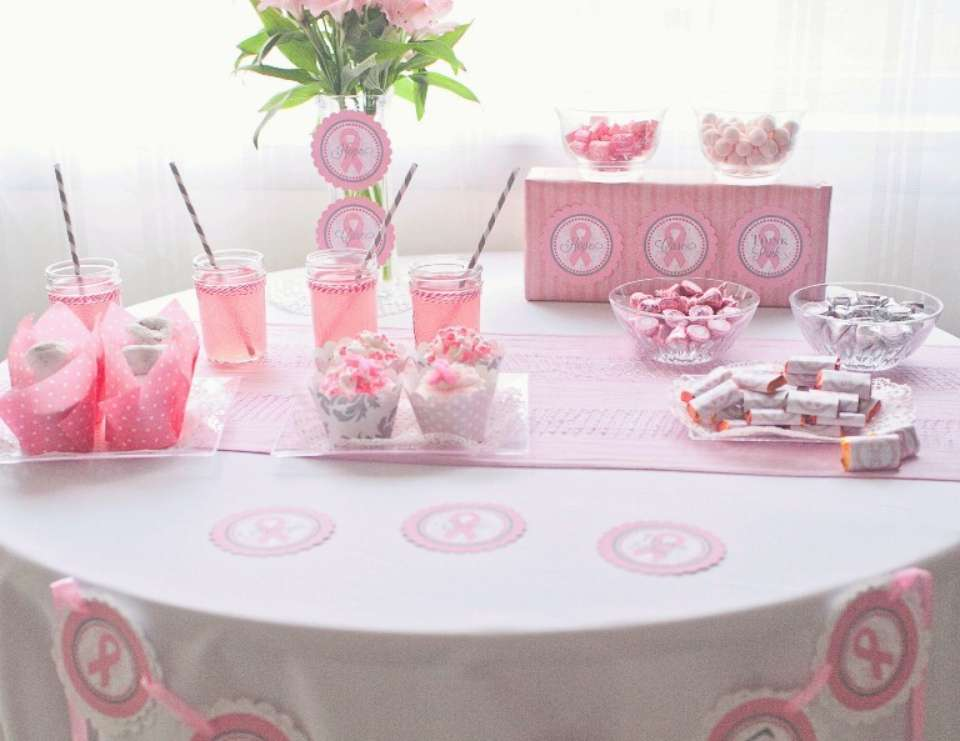Think Pink! Breast Cancer Awareness Dessert Table - Breast Cancer Awareness