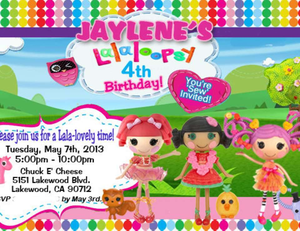 Jaylene's 4th Birthday! - LalaLoopsy