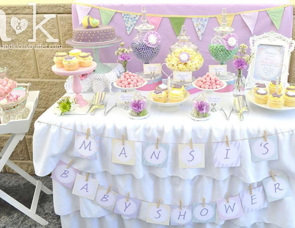 Vintage tea party baby shower mansi 39 s pastel vintage for Baby shower decoration ideas blog