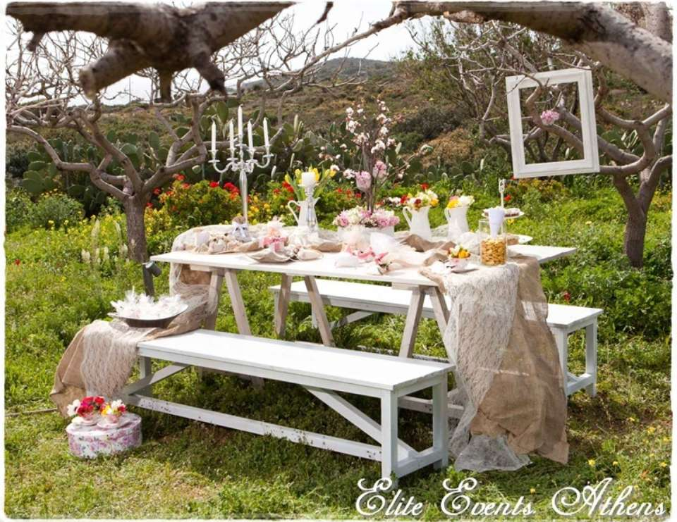 Vintage tea tea party country style tea party catch my party - Backyard patio design ideas to accompany your tea time ...