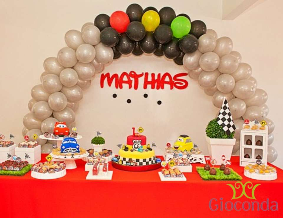 Disney Cars Birthday First birthday of Mathias Catch My Party