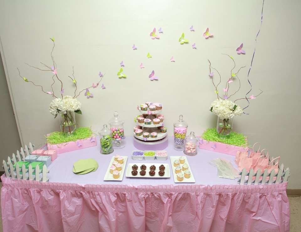 Butterfly Theme For Baby Shower Part - 31: George And Sandrau0027s Baby Shower - Butterfly Garden