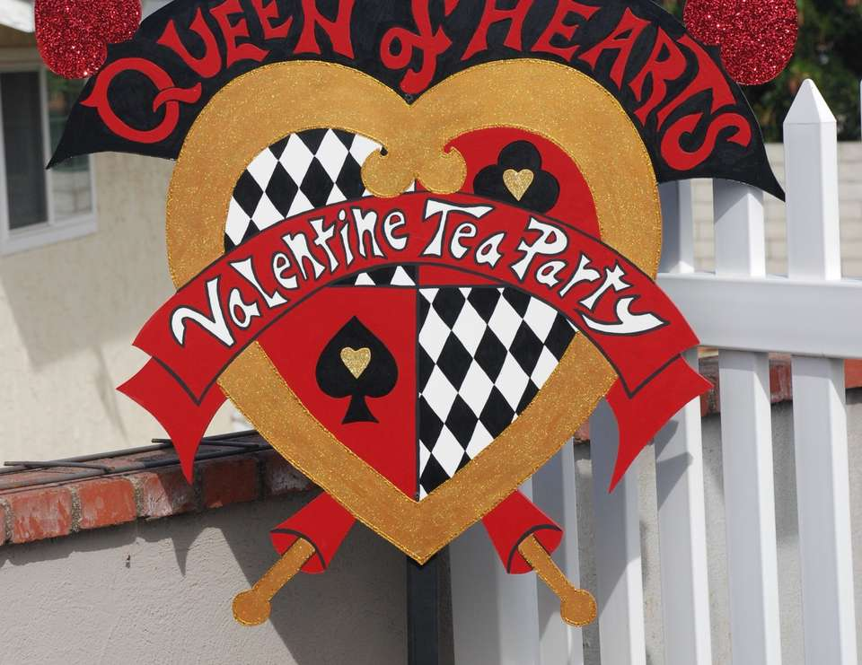 Wonderland Queen of Hearts Valentine birthday - Queen of Hearts/Alice in Wonderland