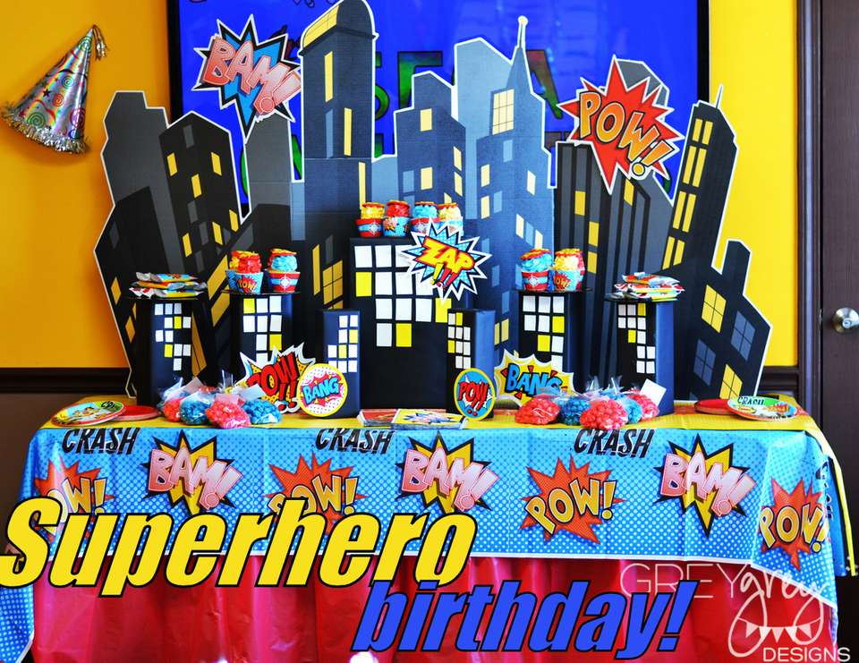 SuperHero Comics 4th Birthday - Superhero