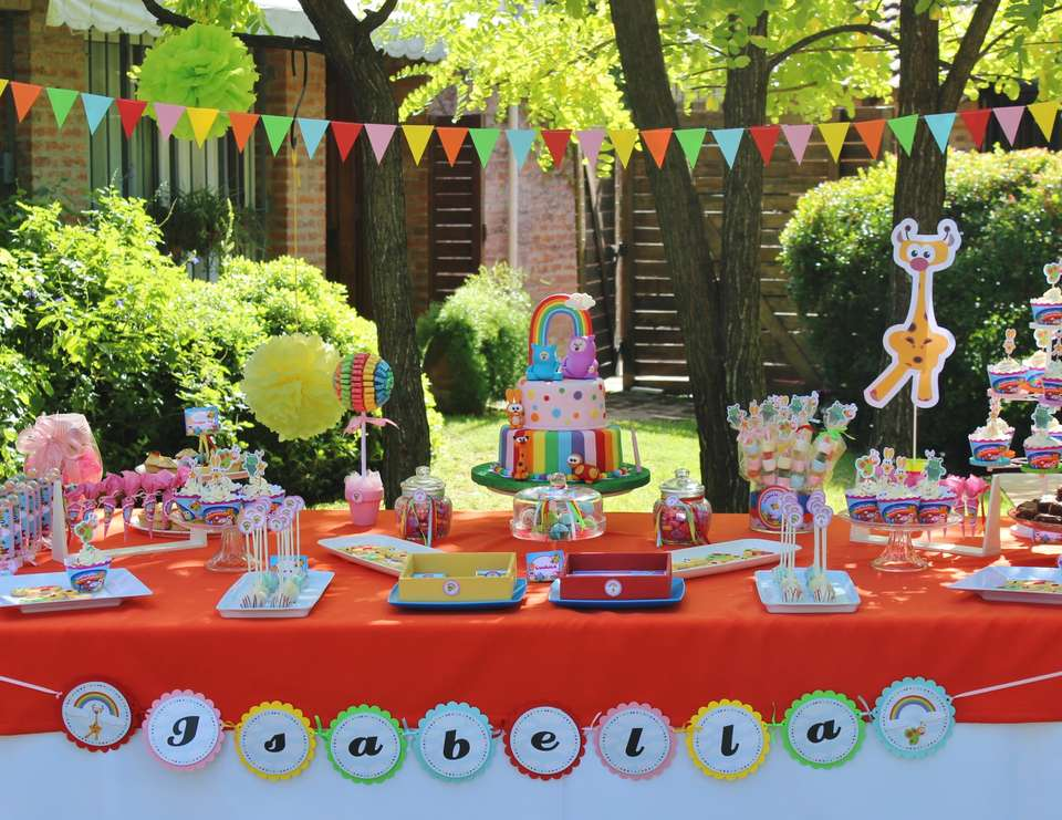Rainbow Animals Birthday Party Ideas Photo 1 Of 16 Catch My Party