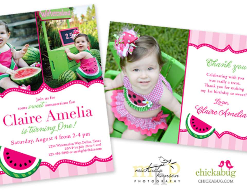 Watermelon 1st Birthday Party - Watermelon