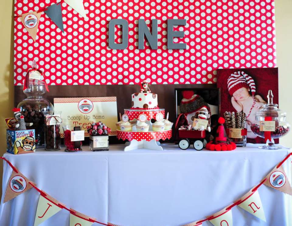 Sock Monkey 1st Birthday Party - Sock Monkey