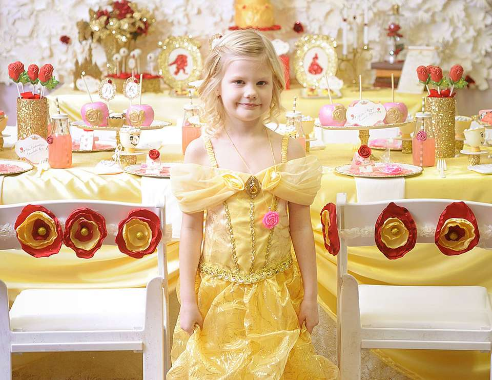 "Princess Belle Decorations Gorgeous Beauty And The Beast  Birthday ""belle Party""  Catch My Party Inspiration"