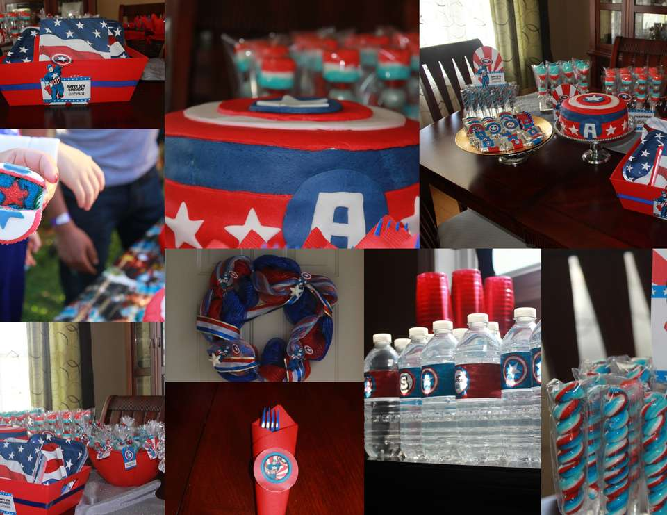 5th Birthday Captain America/ Super Heroes - Captain America