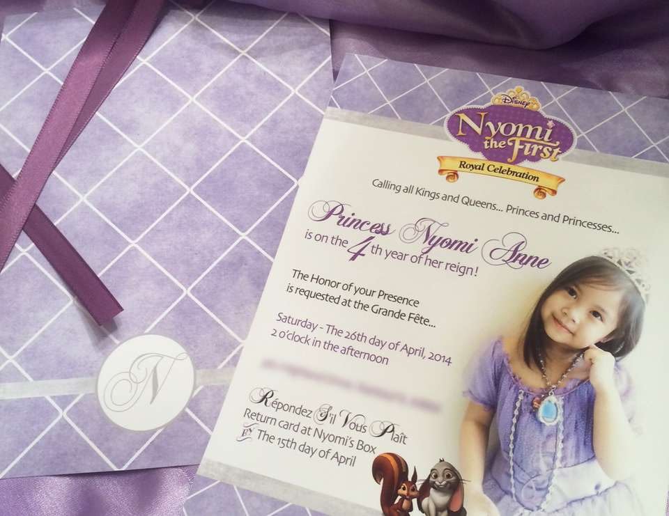 Nyomi's Sofia The First Inspired 4th Birthday Princess Party - Sofia the First