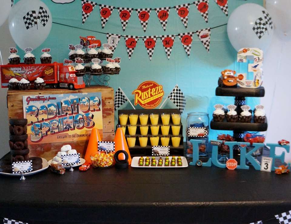 Lukes 3rd Birthday - Disney Cars