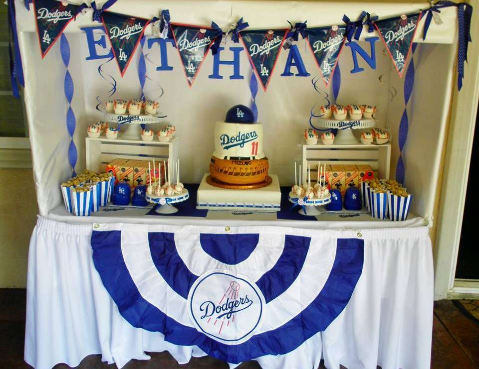 Ethan's Dodgers Baseball Party - Sports