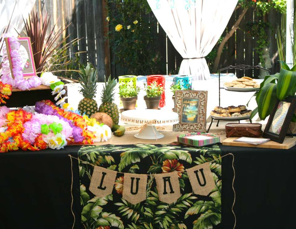 vintage luau bridal shower hawaiian luau