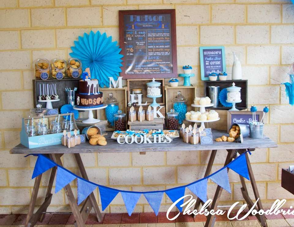 Hudson's Milk and Cookie Monster 1st Birthday - MIlk and Cookies