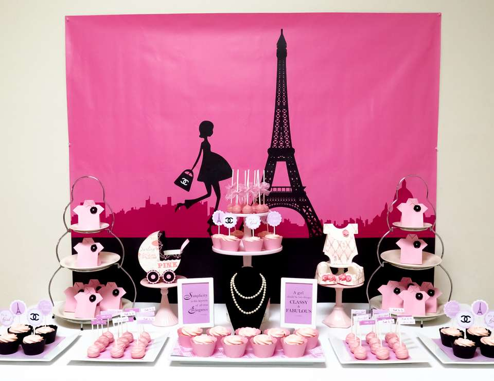 Awesome Pink Paris Themed Baby Shower   French / Parisian