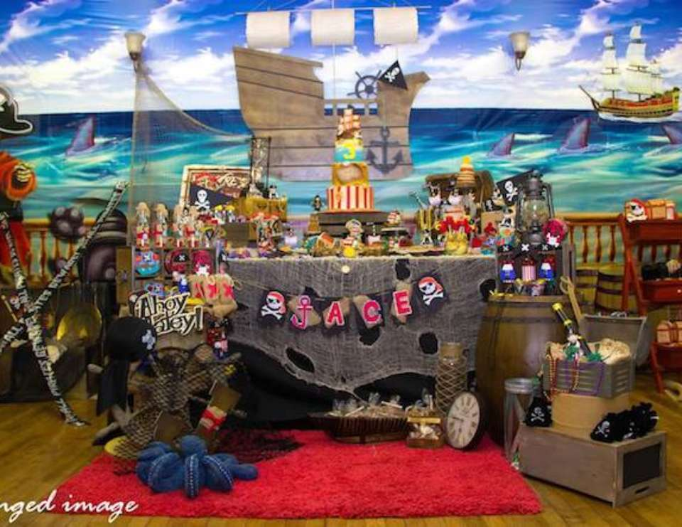 """Jace's  Awesome Pirate 3rd Birthday"" - Pirates"
