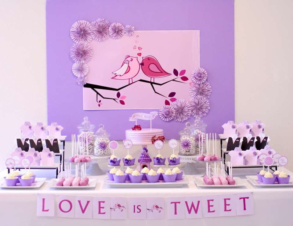 """Love is Tweet"" Love Birds Themed Wedding - Birds / Feathers / Nest"