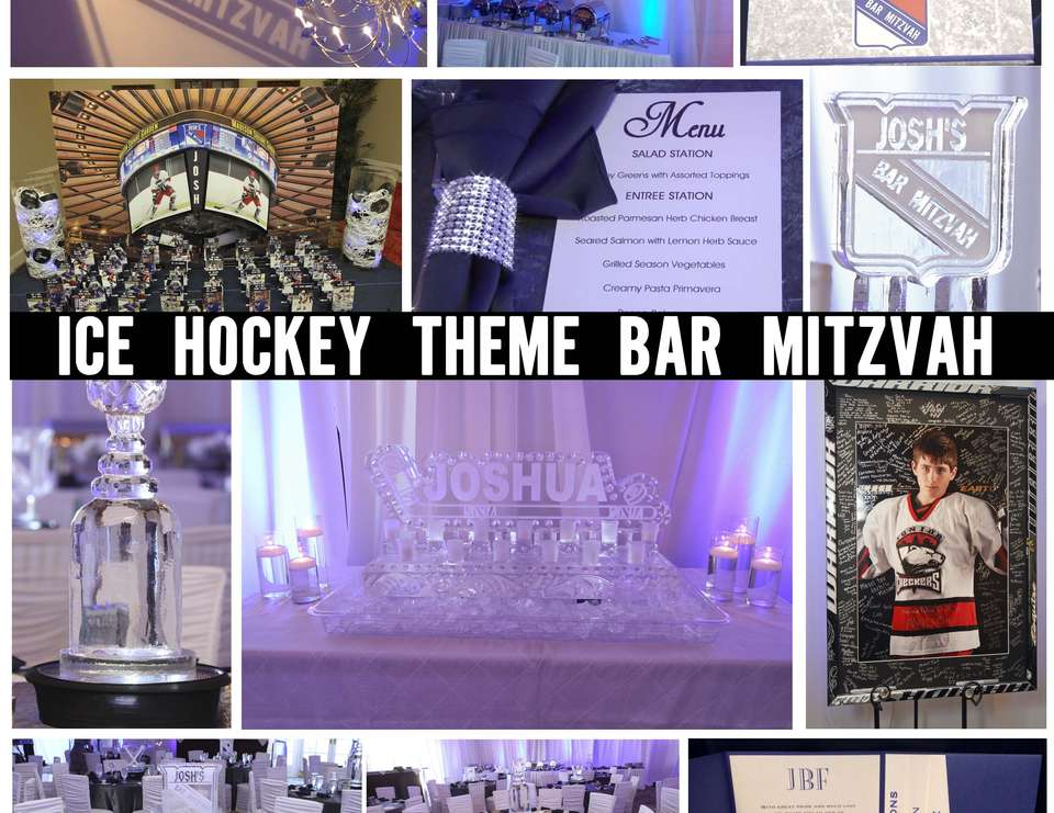 Joshua Feldman's Bar Mitzvah - New York Rangers Ice Hockey Themed Bar Mitzvah