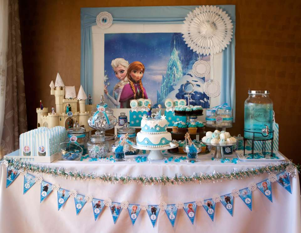 Frozen Disney Birthday Emmas EverSoSweet Frozen Themed 3rd