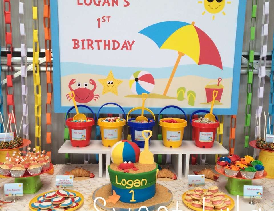 beach theme birthday logan s first birthday beach party catch