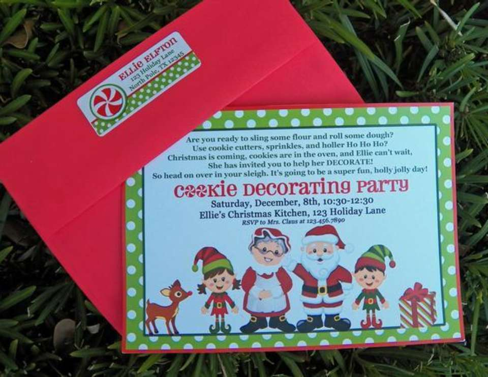 christmas cookie decorating party santas workshop elf north pole - Christmas Cookie Decorating Party