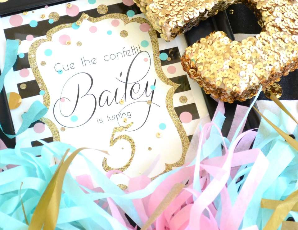 Cue the Confetti! Bailey is Five! - Confetti