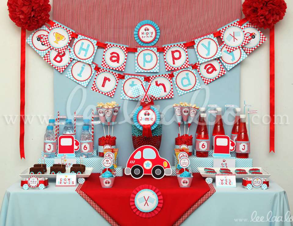 Cars Disney movie Birthday Cute Race Car Birthday Party Theme