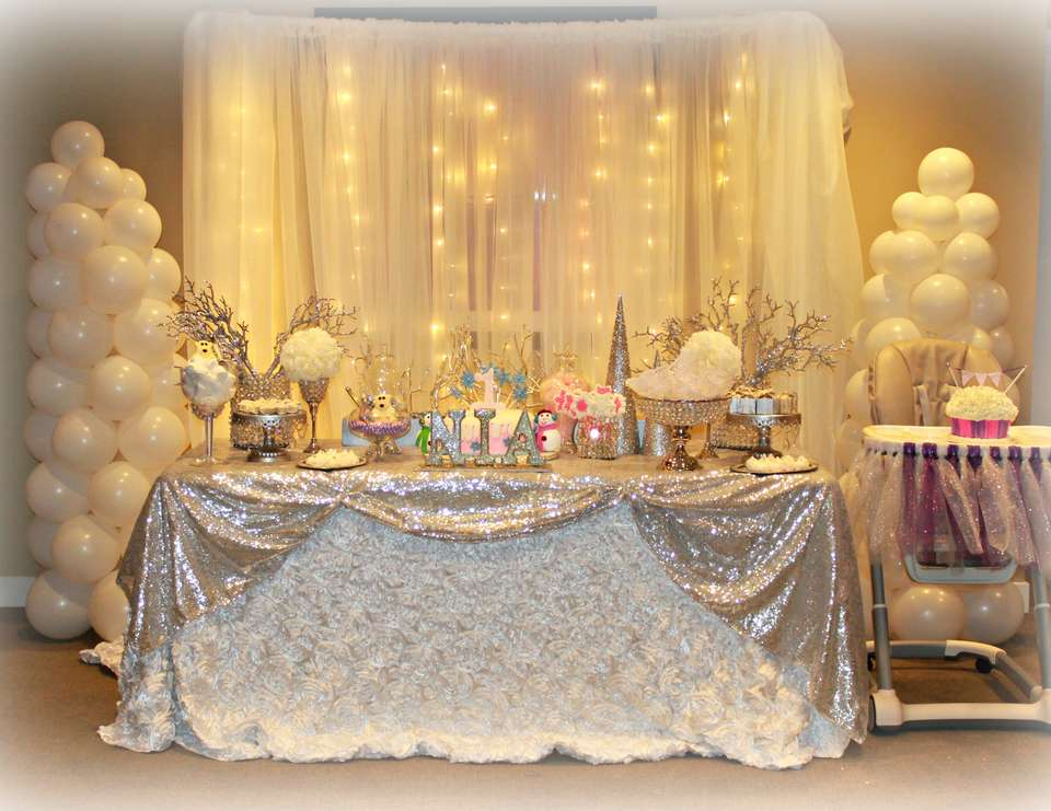 All White Party Decoration Of Southern Blue Celebrations Winter Party Ideas