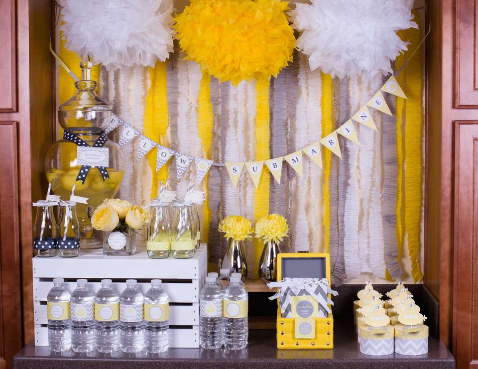 Chic Yellow Submarine Birthday Party - Yellow Submarine