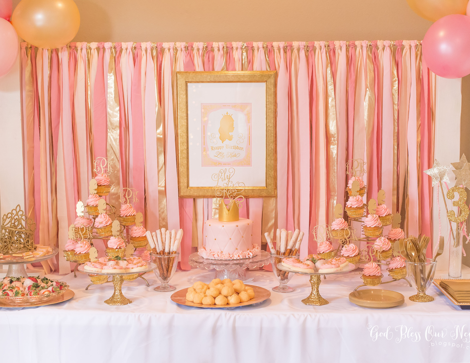 Lily Kate's Pink and Gold Princess Party - Princess