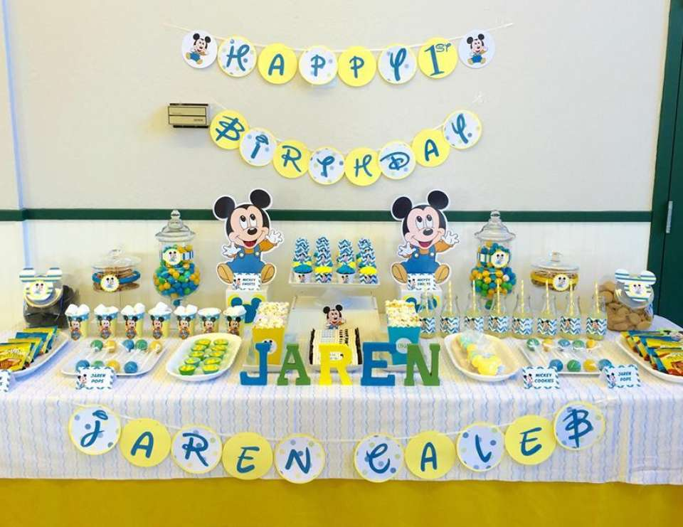 Baby Mickey Mouse / Birthday Happy 1st Birthday Catch My Party ...