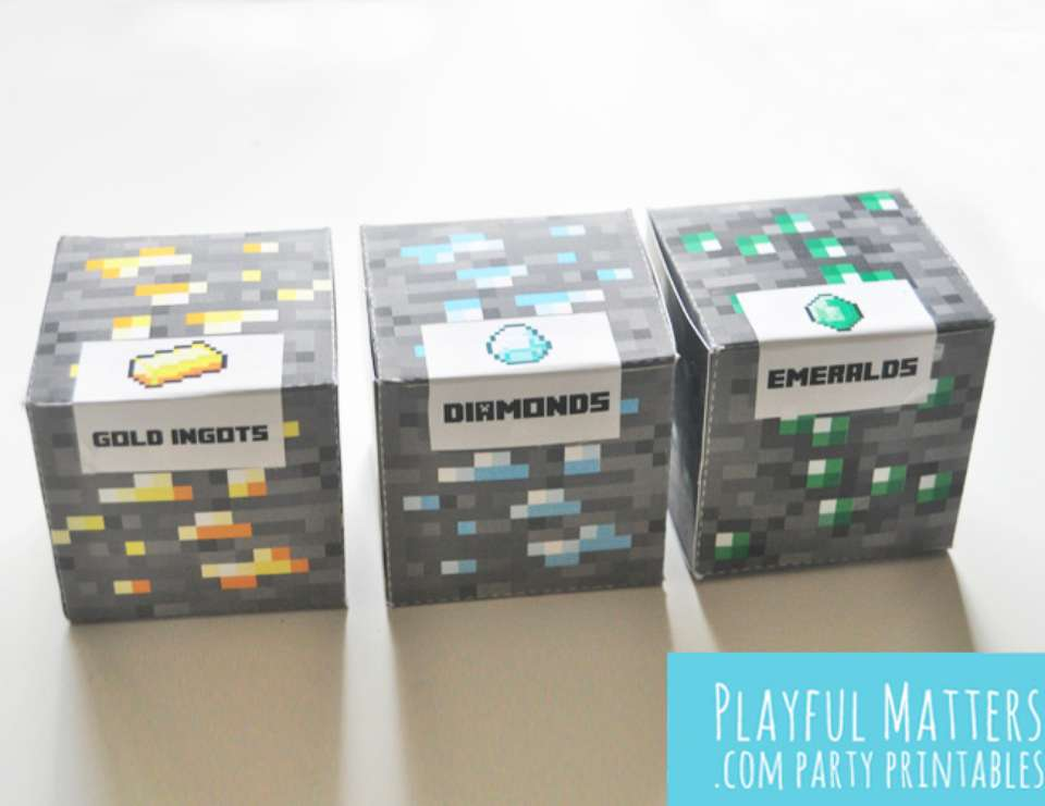 photo regarding Minecraft Blocks Printable titled Minecraft blocks celebration favors / Birthday \