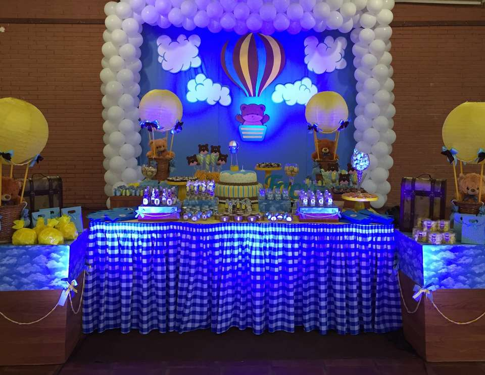 1st birthday birthday 1st birthday baby boy hot air for Baby birthday ideas of decoration