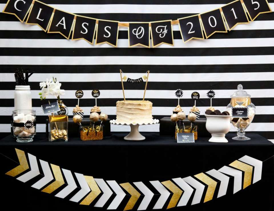 Black and Gold Class of 2015 Graduation Party - Black and Gold Graduation Party