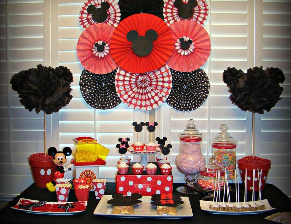 Mickey Mouse Minnie Mouse Birthday Mickey Minnie Mouse Party