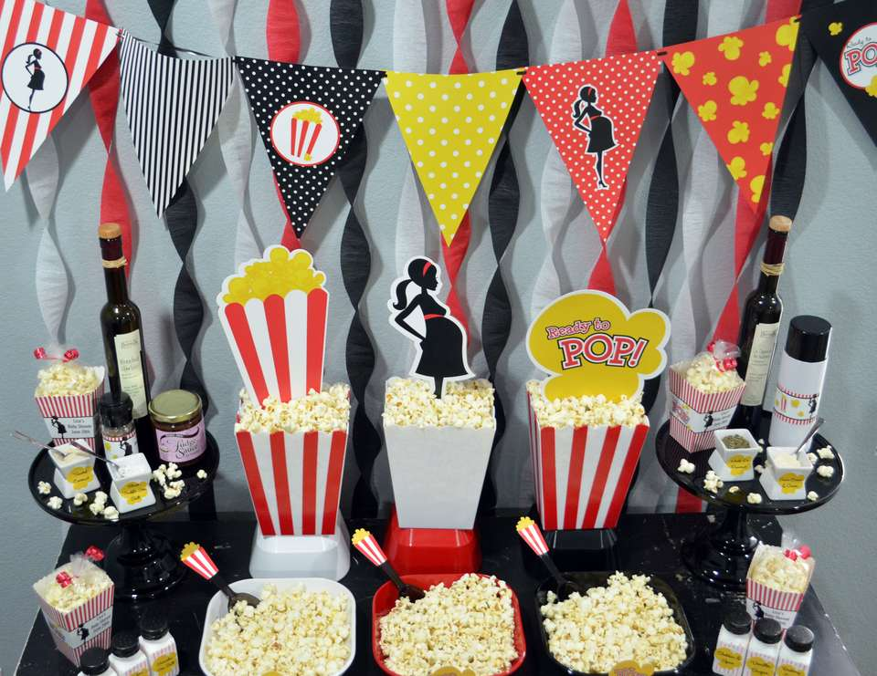 Ready To Pop Popcorn Bar Baby Shower Ready To Pop Baby Shower