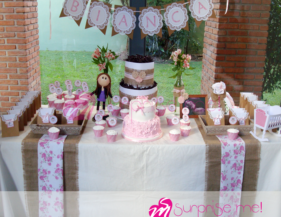 Baby shower en tono rosa baby shower baby shower bianca for Decoracion casa shower