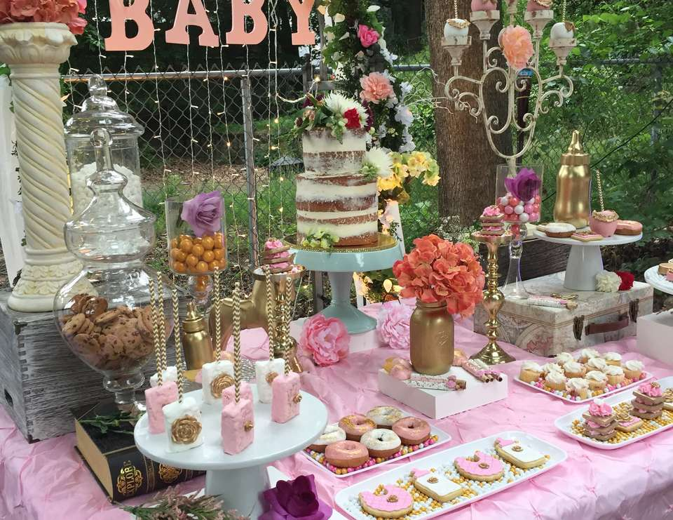 Chic Vintage Baby Shower   Vintage