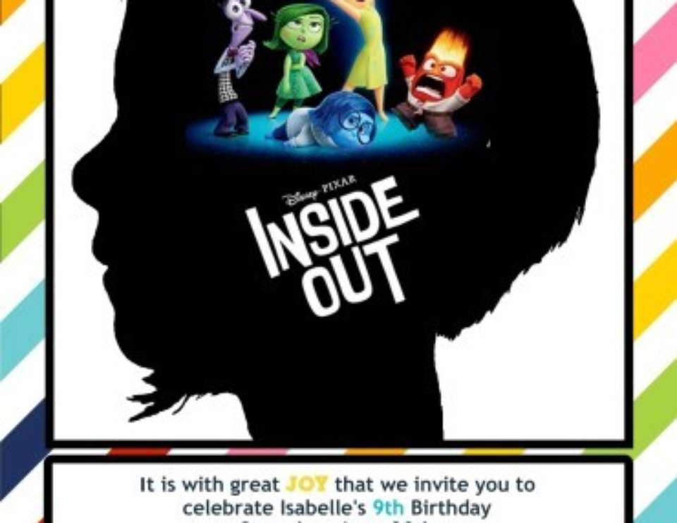 Disneys Inside Out Birthday Isabelles Th BirthdayInside Out - Birthday invitations inside out