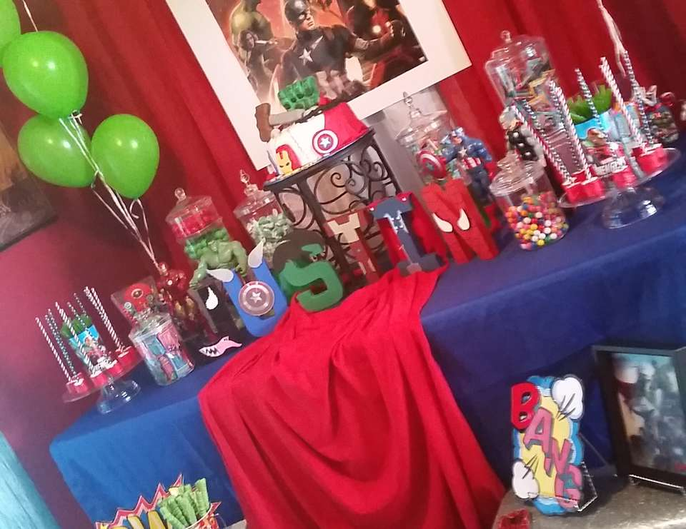 Justin\u0027s Marvel Avengers birthday party. - Marvel/Avengers & Avengers Party Ideas for a Boy Birthday | Catch My Party