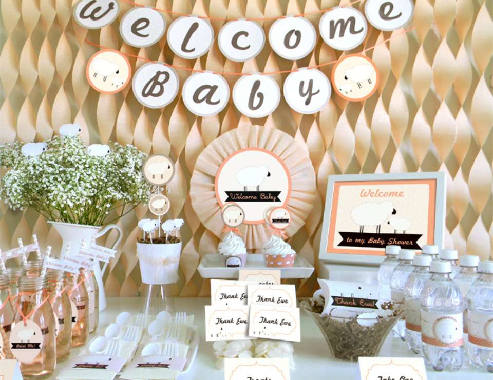 little lamb baby shower peach little lamb baby shower inspiration